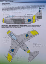 "Load image into Gallery viewer, SAAB j 29 E/F Decals ""Tunnan Part II"" 48D020 1/48 scale"