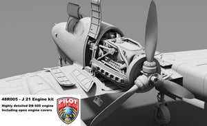 1/48 scale Super detail engine set. For SAAB 21