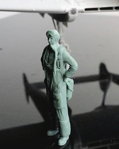 1/48 scale Swedish Airforce pilot, 1940s to early 1950s.Fits SAAB J21, 28 Vampire etc. Art # 48P010