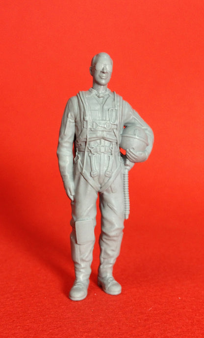 1/72 scale Swedish pilot as seen from the 1950s to the early 1970s. Art # 72P002