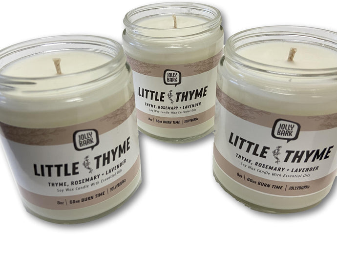 Little Thyme Soy Candle - FOR PICK UP or LOCAL DELIVERY ONLY