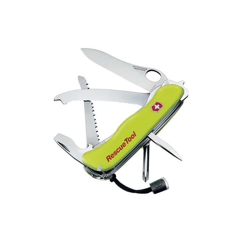 VICTORINOX - 0.8623.MWN - VICTORINOX RESCUE TOOL ONE HAND FLUO A DENTS