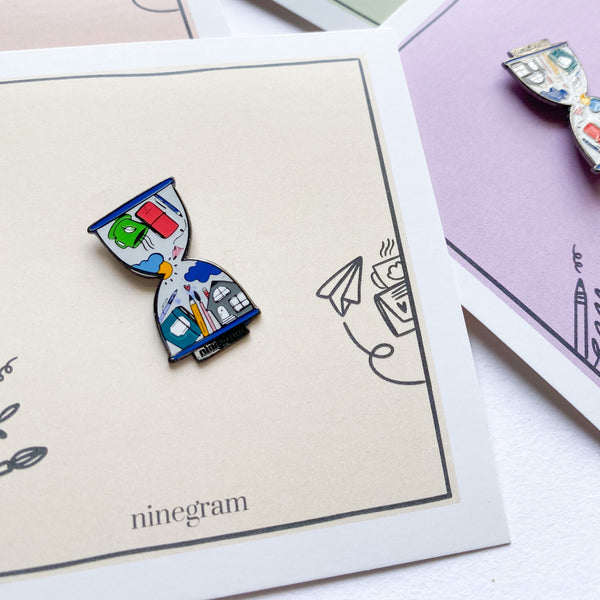 Time Trotter Enamel Pin - ninegram.in