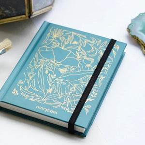 Gold Glory Stylish A6 Pocket Friendly Notebook  Garden Green Color