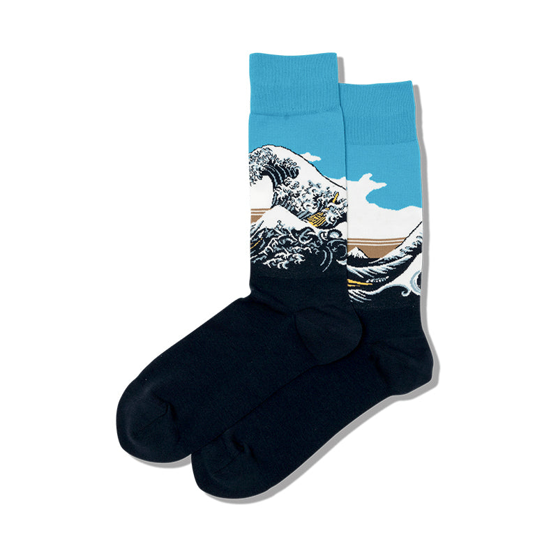 Hokusai Great Wave Mens Crew