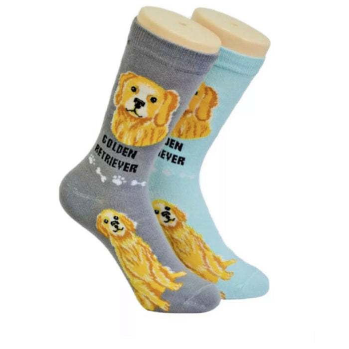 FOOZYS Ladies 2 Pair GOLDEN RETRIEVER DOG
