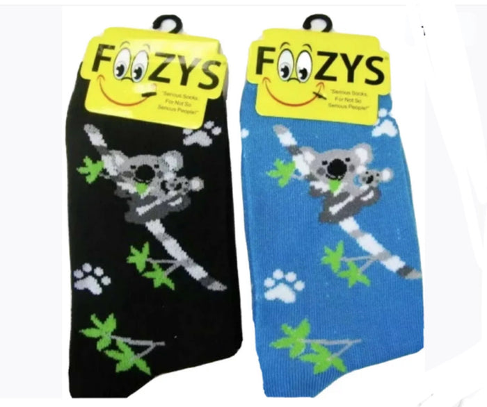 FOOZYS Ladies 2 Pair KOALA MOM & BABY