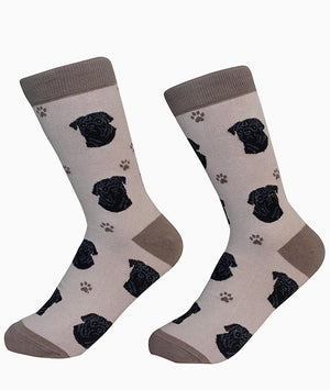 SOCK DADDY Brand BLACK PUG DOG E&S Pets - Novelty Socks for Less