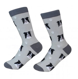 SOCK DADDY Brand Unisex BORDER COLLIE Dog E&S Pets - Novelty Socks for Less