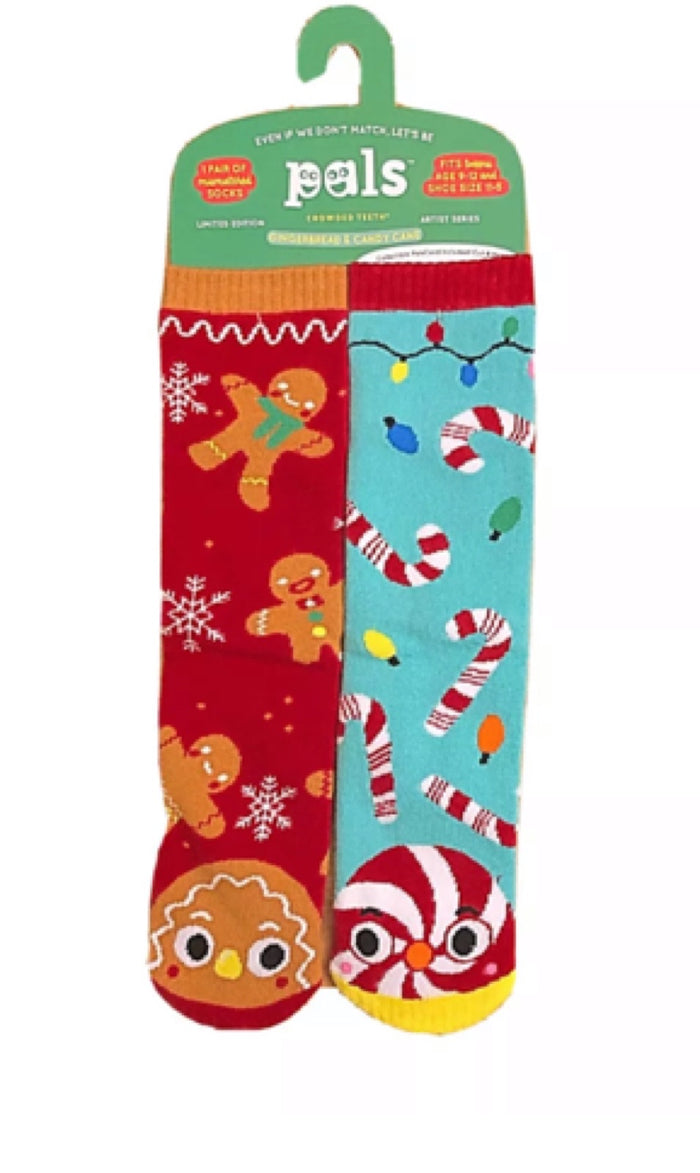 PALS SOCKS BRAND TWEENS CHRISTMAS MISMATCHED SOCKS AGES 9-12