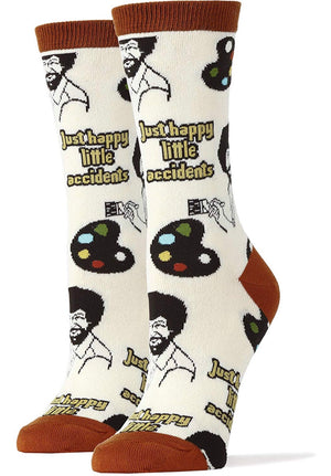 OOOH YEAH Ladies BOB ROSS - Novelty Socks for Less