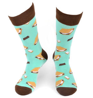 PARQUET BRAND Mens SMORES Socks - Novelty Socks for Less