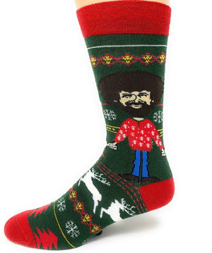 OOOH YEAH BOB ROSS Men's UGLY SWEATER - Novelty Socks for Less
