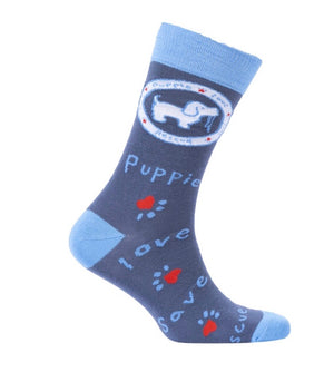 PUPPIE LOVE Brand Youth Crew Socks - Novelty Socks for Less