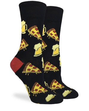 GOOD LUCK SOCK Ladies PIZZA & BEER - Novelty Socks for Less