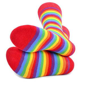 PARQUET BRAND Mens RAINBOW STRIPED Socks