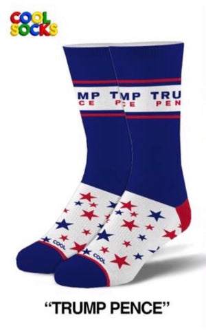 COOL SOCKS Mens TRUMP PENCE Socks - Novelty Socks for Less