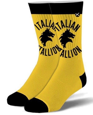 ODD SOX Brand Men's ROCKY 'ITALIAN STALLION' - Novelty Socks for Less