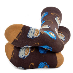 PARQUET BRAND Ladies COFFEE Socks - Novelty Socks for Less