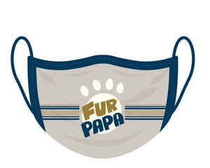 FUNATIC BRAND Adult Non Medical Face Mask 'FUR PAPA'