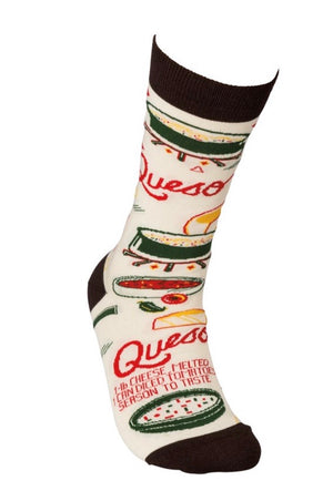 PRIMITIVES BY KATHY Unisex QUESO RECIPE Socks - Novelty Socks for Less