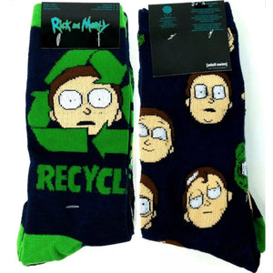 RICK AND MORTY Mens 2 Pair Of Socks - Novelty Socks for Less