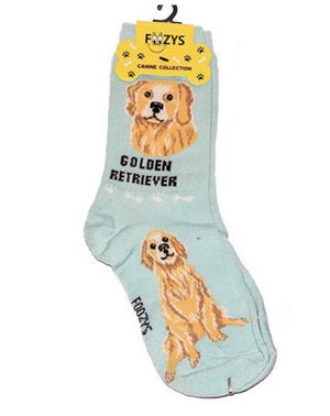 FOOZYS Brand Ladies 2 Pair GOLDEN RETRIEVER DOG - Novelty Socks for Less