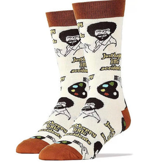 OOOH YEAH Socks Men's BOB ROSS - Novelty Socks for Less