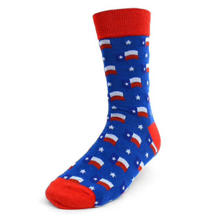 Parquet Brand MEN'S TEXAS FLAG Socks - Novelty Socks for Less