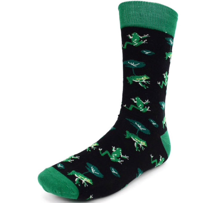 Parquet Brand Men's Socks FROGS & LILY PADS