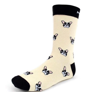 Parquet Brand Men's FRENCH BULLDOGS Socks - Novelty Socks for Less