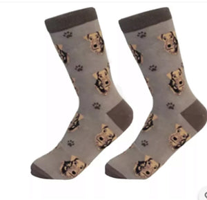 SOCK DADDY Brand AIREDALE TERRIER Dog Unisex By E&S Pets