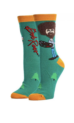 OOOH YEAH Brand Ladies BOB ROSS 'TRUE BOB ROSS' - Novelty Socks for Less