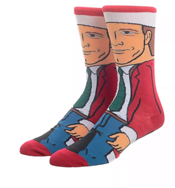 CHRISTMAS VACATION MEN'S CLARK GRISWOLD 360 SOCKS BIOWORLD BRAND
