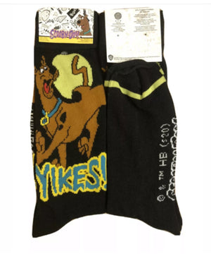 SCOOBY-DOO Mens Socks 'YIKES'