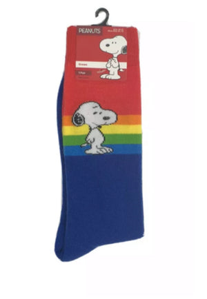 PEANUTS Mens SNOOPY/RAINBOW Socks