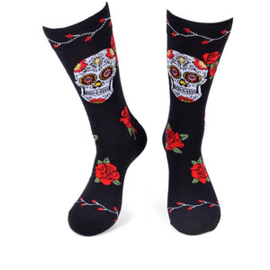 PARQUET BRAND Mens SUGAR SKULL Socks - Novelty Socks for Less
