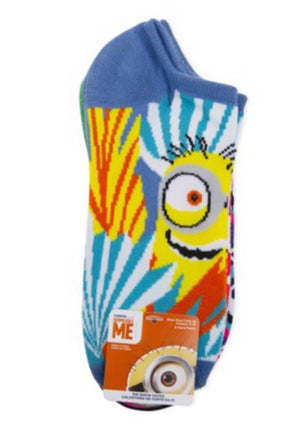 DESPICABLE ME Ladies 6 Pair No Show MINIONS