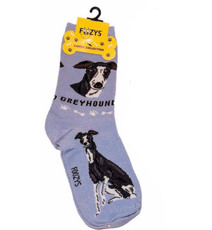 FOOZYS BRAND Ladies 2 Pair GREYHOUND DOG - Novelty Socks for Less