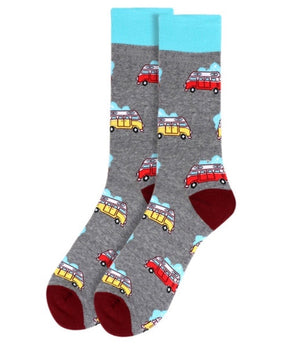 PARQUET BRAND Mens CAMPER VAN Socks - Novelty Socks for Less