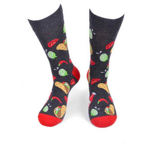 PARQUET BRAND Mens TACOS/HOT SAUCE Socks - Novelty Socks for Less