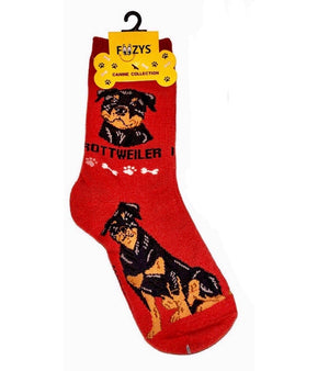 FOOZYS Brand Ladies 2 Pair ROTTWEILER DOG - Novelty Socks for Less