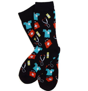 Parquet Brand LADIES DOCTORS/NURSE - Novelty Socks for Less