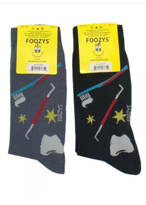FOOZYS BRAND Mens 2 Pair DENTIST/ORTHODONTIST