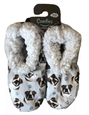 COMFIES Ladies BULLDOG Non-Skid SLIPPERS