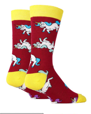 OOOH YEAH Brand Mens UNICORN WAR Socks