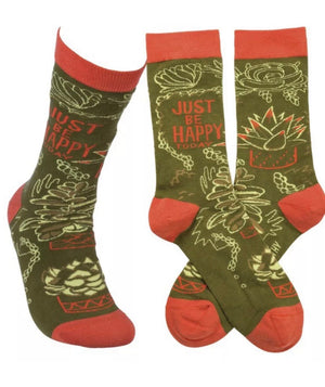 Primitives by Kathy Unisex 'JUST BE HAPPY' - Novelty Socks for Less