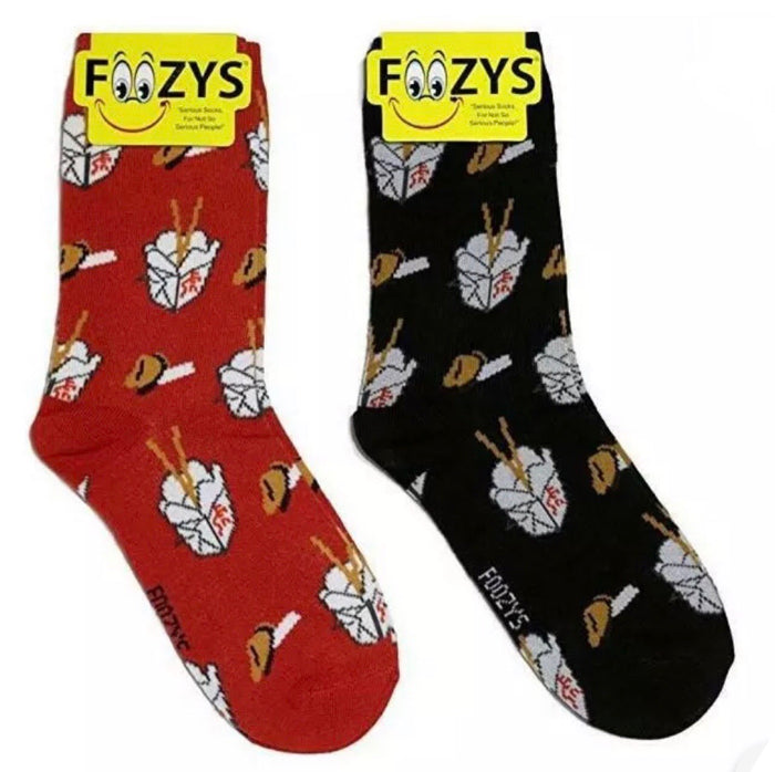 FOOZYS LADIES 2 Pair CHINESE FOOD Socks