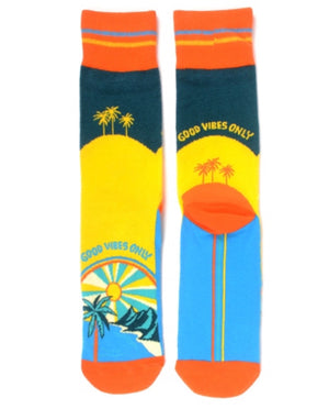 PARQUET BRAND Men's 'GOOD VIBES ONLY' Socks