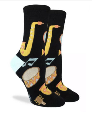 GOOD LUCK SOCK Brand Ladies MUSICAL INSTRUMENTS Socks